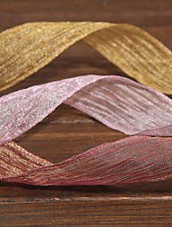 Gorgeous Mosaic Gold Fold Organza Ribbon(More Color)