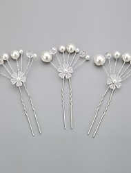 Imitation Pearls Wedding/Special Occasion Hairpins (Set of 3)