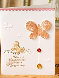 Butterfly Rhinestone Mini Birthday Card (7.5*9cm)