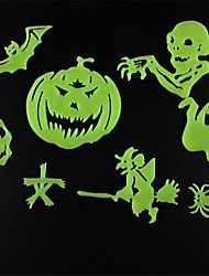 Wall Stick Wall Decals, Halloween Style Noctilucent Decorative PVC Wall Stickers