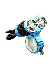 fiets blauw met licht koplamp sport zaklamp professionele dark knight K2C 2 geleide usa cree xml-T6 2400lm