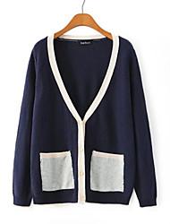 MOSCHIN col V à manches longues manteau de style coréen des femmes