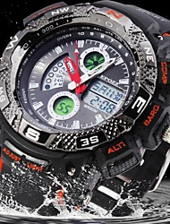 Men's Water Resistant Military Rubber Analog-Digital Display Sports Watch(Assorted Colors)