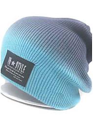 logotipo grande stripe tricô chapéu / chapéu de malha de unisex