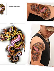 1 Pcs Waterproof  Color Picture Dragon  Pattern  Tattoo Stickers