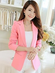 Women's Long Sleeve Blazer , Polyester Regular Casual/Work