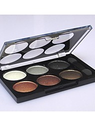 6 Colors Professional Dazzling Matte and Shimmer 3in1 Eyeshadow Cosmetic Palette