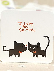The Black Cat Mini Valentine Cards (7.5*7.5cm)