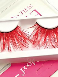 Loose Red Feather Carnival Eyelashes