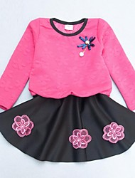 la mode robe de correspondance de douce fleur de la jeune fille
