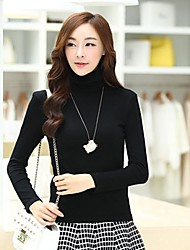 Women's Turtleneck Long-sleeve Bottoming Shirt Tops