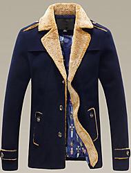 moda casaco de tweed dos homens casuais D2P