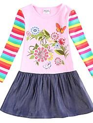 vestido de princesa vestido de inverno noite de primavera festa da menina com flores vestir para meninas miúdos vestidos