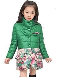 moda floral doce casaco correspondência da menina
