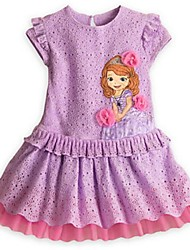 Girl's New Snow Country Pure Cotton Short Sleeves Princess Dress