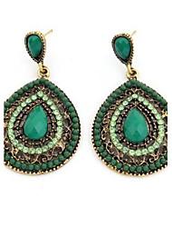 Masoo Women's Fashion Popular Gem Water Drop Earrings