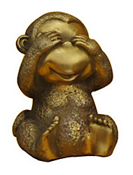 NO See Cute Monkey Decoration ,Copper