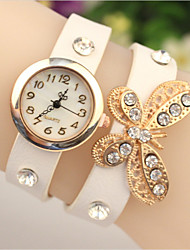 мак женщин элегантный горный хрусталь лук часы