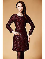 DLBN Women's Fashion Lace Sheath Dress