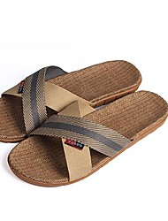 Men's Shoes Casual Canvas Slippers Tan/Taupe