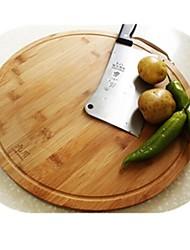 tábua de cortar bambu, bambu 20 × 20 × 5 cm (7,9 × 7,9 × 2,0 polegadas)