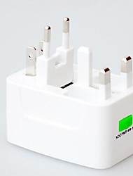 FJQXZ White Universal Multiple Plug Adapter