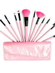 Professional Brush Set with 12Pcs Brushes and Red/Black Bag
