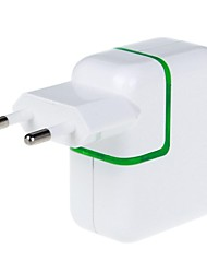 3100mAh 2-Port USB Power Adapter/Charger (110~240V/EU Plug)
