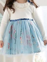 automne explosion modèles filles princesse robe enfants robe de jeune fille se leva robe de printemps de gaze