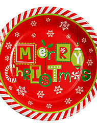 Buon modello di Natale di carta usa e getta piatti 20pcs / bag