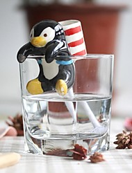 NEJE Self Watering Animal Plant Planters - Penguin with Cup