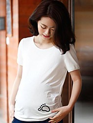 Maternity Fashion Solid Color Coat Sleeve T