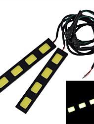 impermeable 24w 750lm mazorca 4 * LED blanco luz diurna - (12v / 2 pcs)
