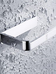 HPB®,Soporte para Papel Higiénico Cromo Montura en Pared 15*9*3cm(6*3.5*1.2 inch) Latón Contemporáneo