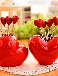 Heart Shape Stainless Steel Fruit Forks,Stainless Steel 7.5×7.5×6.5 CM(3.0×3.0×2.6 INCH) Random Type