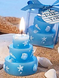 Blue Cake Candle