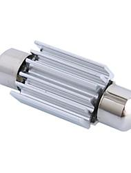 gc® 39 millimetri 1w 50lm 6000k 3x5050 smd led bianco per auto lettura / licenza illuminazione della targa / porta (DC12V)