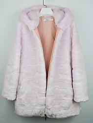 Women's Coats & Jackets , Faux Fur Casual Mingshi