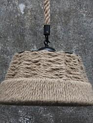 retro handmake corda di canapa countyard lampada lampadario in stile campagna industriale