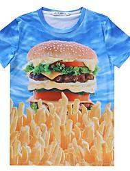 Herren-Rundhals lässige Mode Persönlichkeit alles dünnes T-Shirt passen