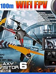 neuf aigles visiteur galaxie hélicoptère 6 rc avec pavé caméra HD fpv de téléphone wifi drone 4ch 6axis quadcopter rtf