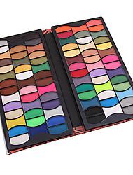 80 Palette di ombretti Secco Gamma di colori dell'ombretto Cipria Normale Trucco smokey / Trucco per feste / Trucco per Halloween