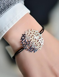 Fashion Women Butterfly Stamping Elastic Bracelet