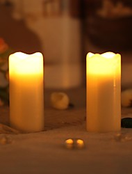 Home impressions™ 1-3/8x3 Inch Smooth Flameless Real Wax Melted Votive Led Candle,pack of 2