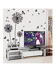 parede adesivos de parede decalques, estilo botânico leão estilo sólido e borboleta em pvc adesivos de parede