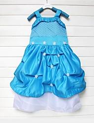 congelés petite fille robe de princesse robe d'été gilr