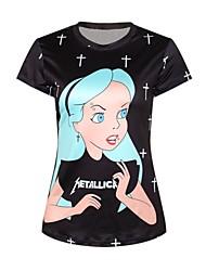 Frauendruck Mode dünnes T-Shirt