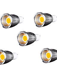 GU10 Spot LED MR16 9 COB 700-750 lm Blanc Chaud Gradable AC 110-130 V 5 pièces