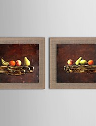 Oil Painting Modern Decorative Painting Still Life Set of 2 Hand Painted Natural linen with Stretched Frame
