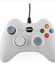 branco jogo usb controlador joypad gamepad joystick com fio para computador portátil pc jogo xbox360 microsoft (branco)